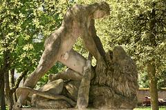 le chasseur et le lion