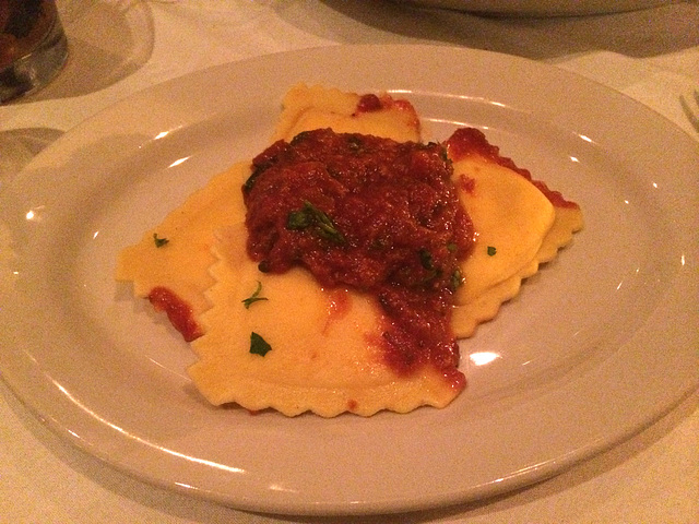 ravioli at Carmine's