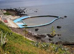 Pool with ocean water.