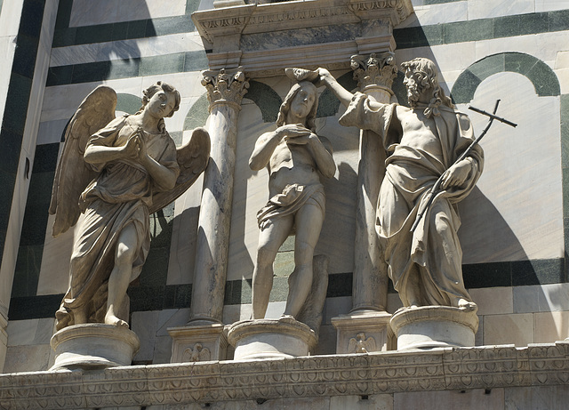 Sculpture at the Baptistry of San Giovanni in Florence