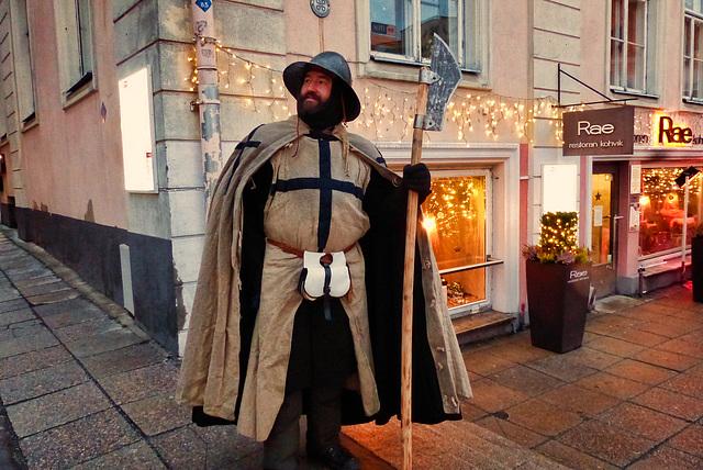 le gardien du marché de Noël