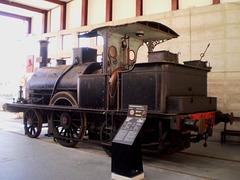 """Steam locomotive """"Andorinha"""" (1857)."""
