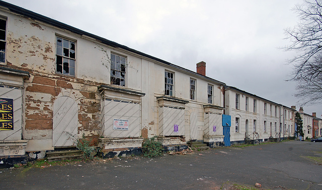 Abandoned Early Nineteenth Century Villas, Moseley Road, Balsall Heath, Birmingham