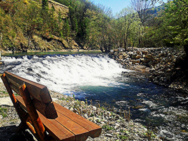 Waterfalls on the Ugar river