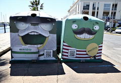 Recycling, Ayamonte style. Andalusia, Spain.