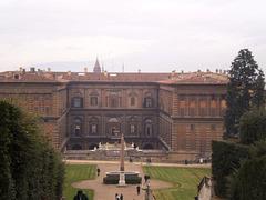 Pitti Palace, seen from Boboli Gardens.