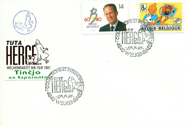 Tintin speciale poststempel