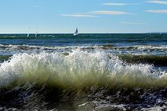 Frischer Wind am Playa de Palma,  Mallorca