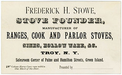 Frederick H. Stowe, Stove Founder and Manufacturer, Troy, N.Y., ca. 1882