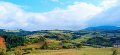 An autumn panorama
