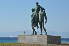 Rhodes-city, Arh. Chrysanthou Square, Monument to Diagoras Family