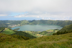 Azores, Island of San Miguel, The Caldera of Cete Citades from the East