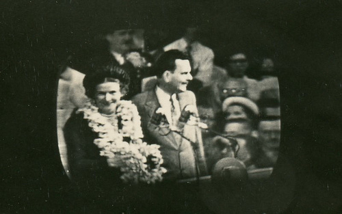Thomas Dewey and His Wife at the Republican National Convention, Philadelphia, June 1948 (Cropped)