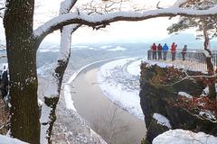 Bastei - der 1. Schnee - la unua neĝo