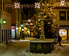 Milchmarkt im Schnee
