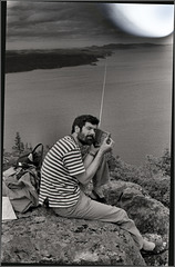 Listening to the radio atop a small mountain, 1991