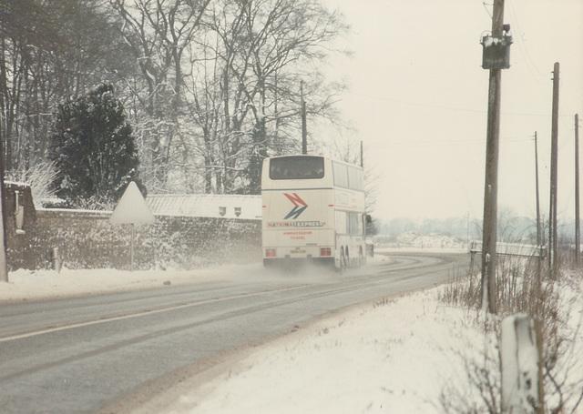 Ambassador Travel MCW Metroliner at Barton Mills - 9 Feb 1985