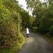 My sister Bobby walking in Padarn country park