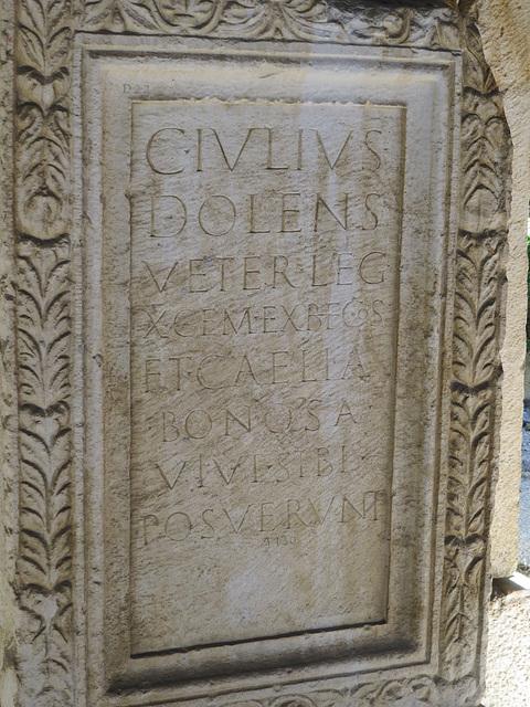 Musée archéologique de Split : CIL III, 8745.