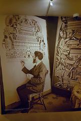 Lesage en train de peindre en public à l'Institut métapsychique international (1927)