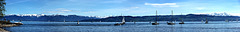 Panoramablick an der Argenmündung am Bodensee (2 Pic in Pic)