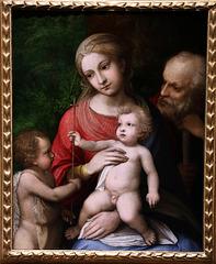 La Vierge à l'Enfant avec saint Jean Baptiste et saint Joseph