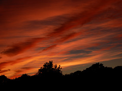 le ciel au coucher du soleil du 1er jour de l'été