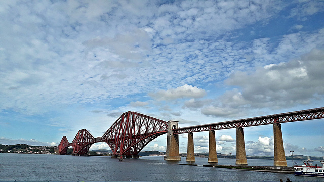 The Forth Bridge a Scottish Icon from South Queensferry 10th September 2019.