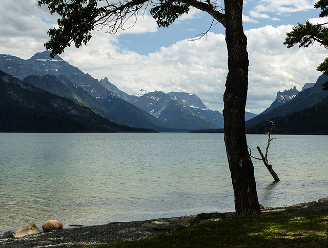 Waterton Lake from the townsite - before the fire