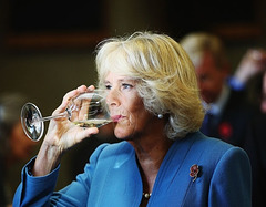 QUEEN CAMILLA WASHES DOWN THE LAST DONAIR.