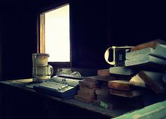 Still life with typewriter