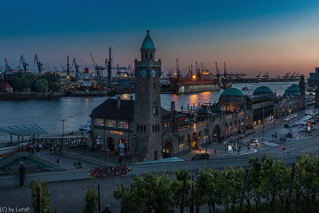 Blue Hour at the Port - Hamburg Ferry Terminal (225°)