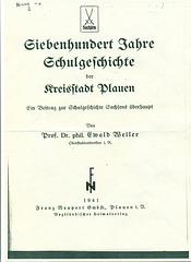Plauen, Schulgeschichte 1941