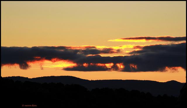 nuages embrasés
