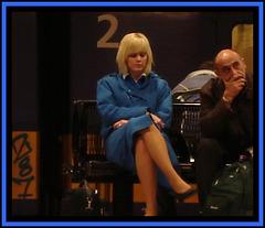 KLM crossed legs blonde