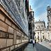 Dresden. Der Fürstenzug und die kath. Hofkirche. ©UdoSm