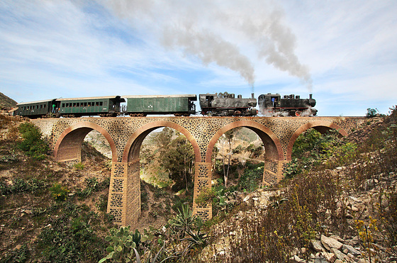 Crossing the viaduct