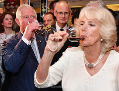 QUEEN CAMILLA TRIES NOT TO GULP AS IT MAKES HER EITHER BURP OR FART.