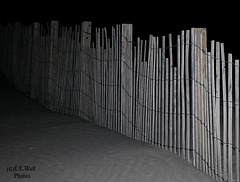Ghostly Fence Atop the Sand -- HFF !!