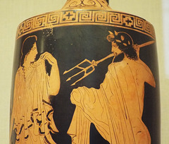 Detail of a Terracotta Lekythos Attributed to the Phiale Painter in the Metropolitan Museum of Art, April 2017