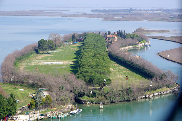 An avenue on an islet by Torcello