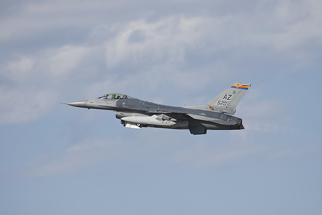 "162nd Fighter Wing General Dynamics F-16C 88-0520 ""El Tigre"""