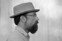 Self portrait with hat and beard