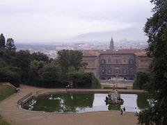 Neptune's Fountain, Boboli Gardens and Pitti Palace.
