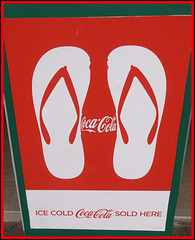 Flipflopping Coca-cola