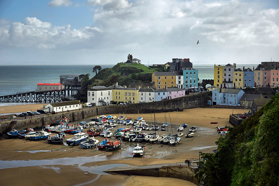 Tide out at Tenby Harbour