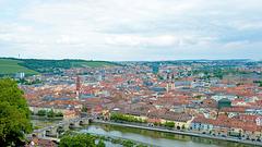 Aussicht auf Würzburg vom Marienberg