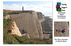 Almost down - Family Support Work charity abseil - Peacehaven - 19.9.2015