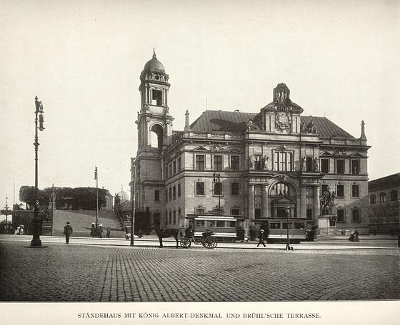Album von Dresden: Ständehaus und Brühlsche Terrasse