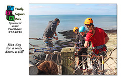 Nice day for the Family Support Work charity abseil - Peacehaven - 19.9.2015